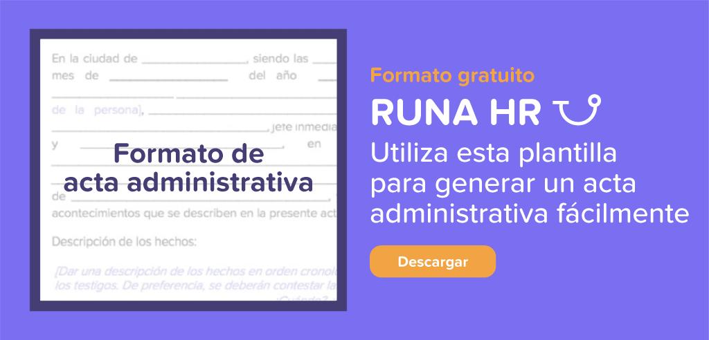 Formato descargable de acta administrativa | Runa HR