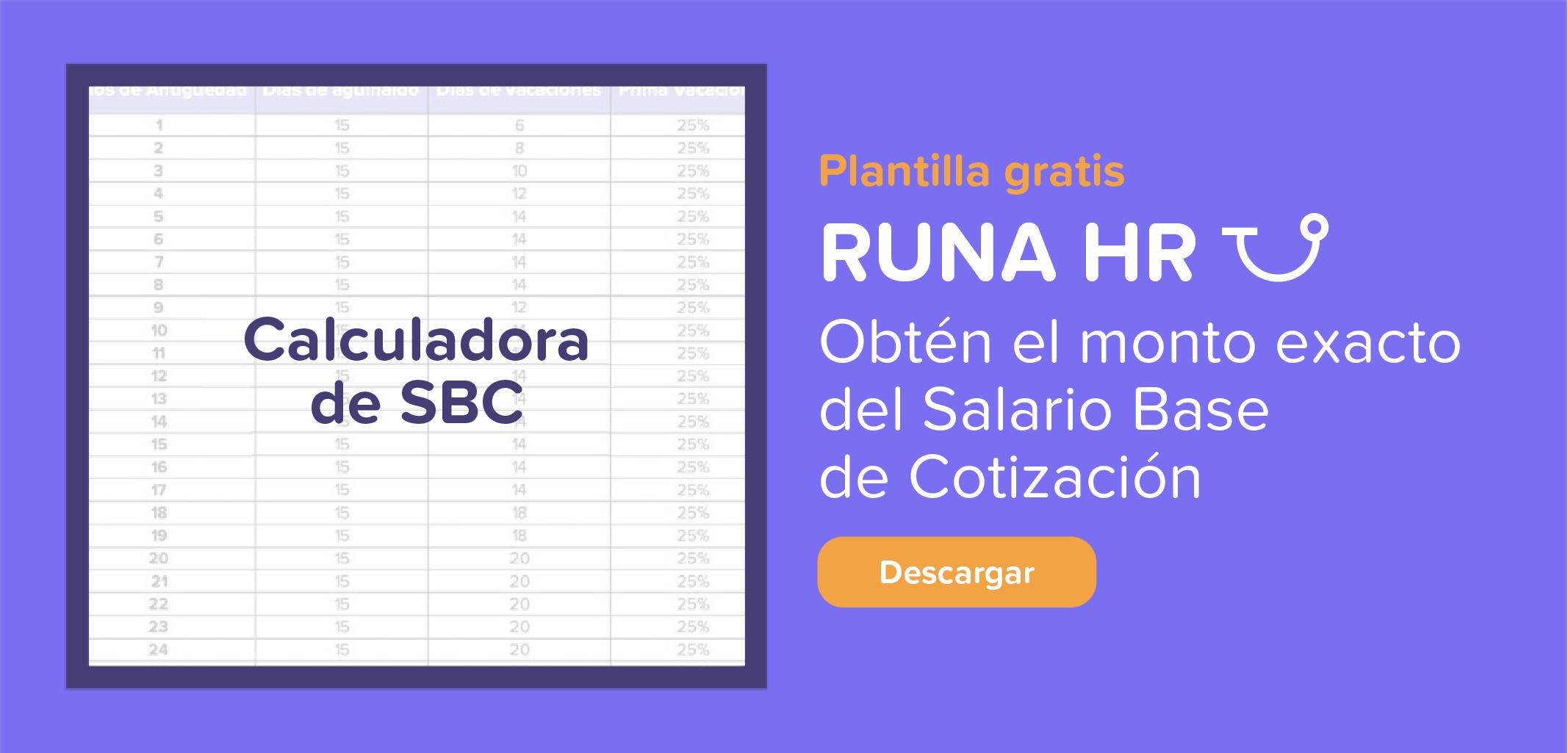 Calculadora del Salario Base de Cotización | Runa HR