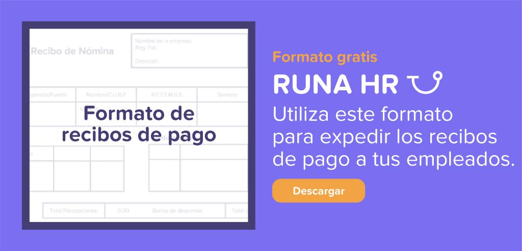 Formato de recibo de nómina | Runa HR