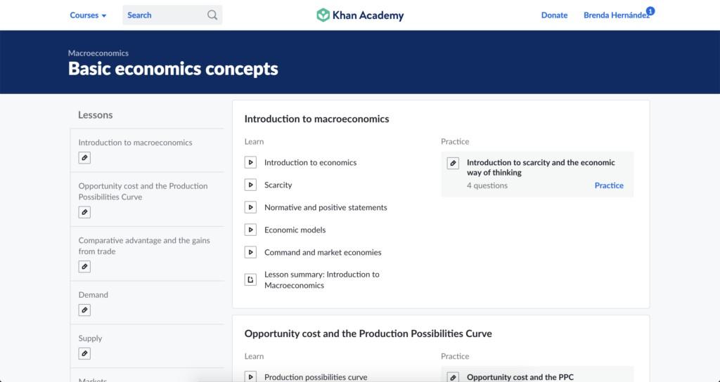 Curso en Khan Academy