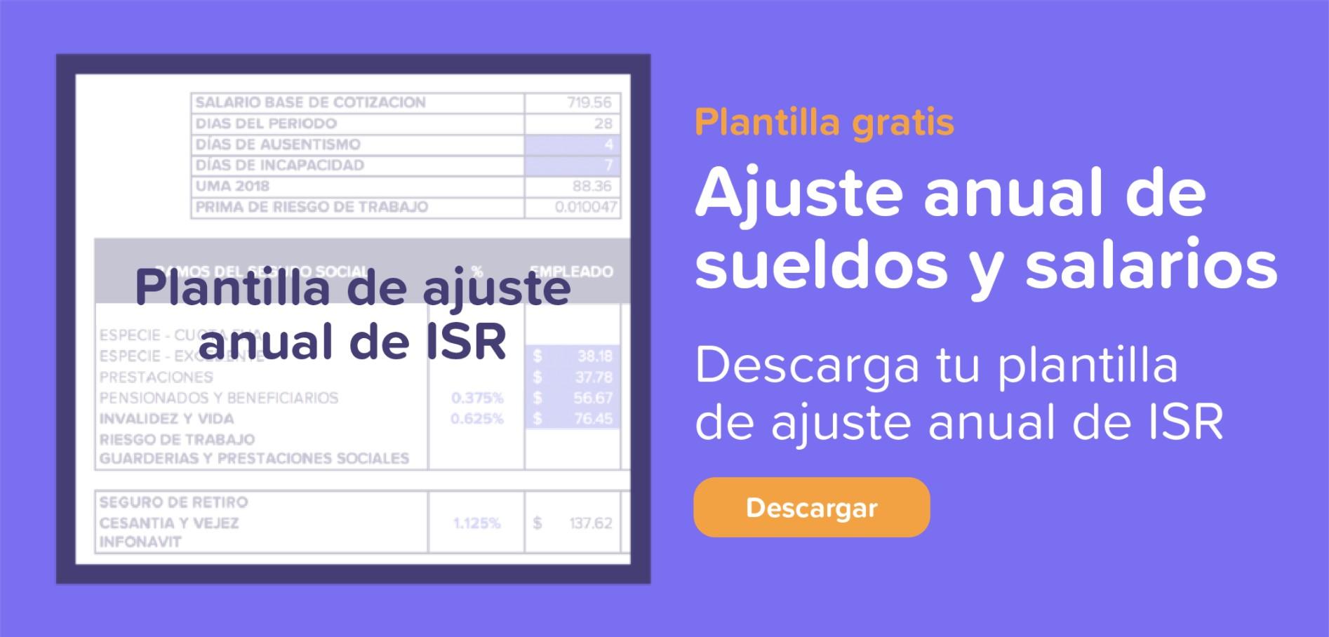 Plantilla de Ajuste Anual de ISR | Runa HR