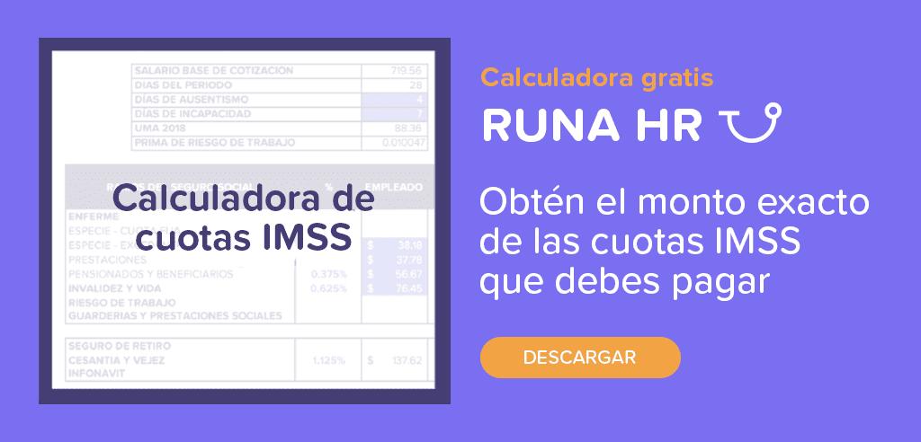 Calculadora de cuotas IMSS descargable | Runa HR