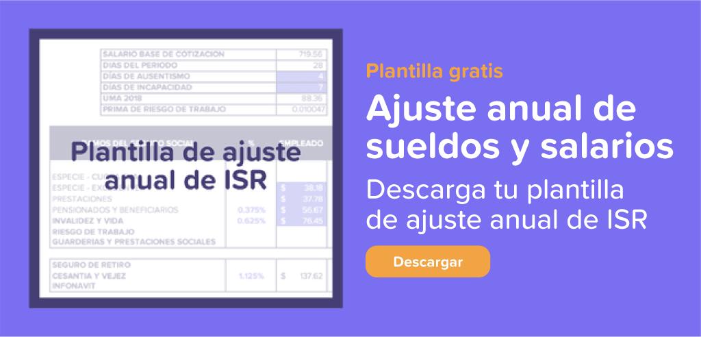 Plantilla de Ajuste Anual ISR | Runa HR