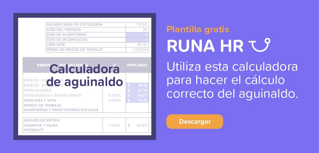 Calculadora de Aguinaldo Descargable | Runa HR